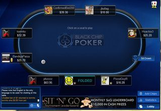 Black Chip Poker Table View