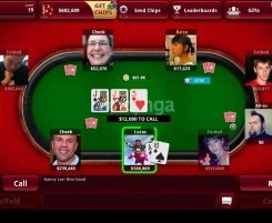 Zynga Poker Table View