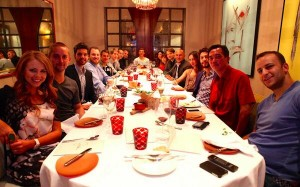 REG founders and high profile pros enjoyed a launch dinner during the WSOP. (Image: @REGcharity/Twitter)