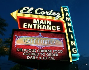 At the downtown Las Vegas casino the El Cortez, players can move money to and from their Ultimate Poker online accounts.