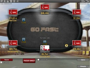 "A ""Go Fast"" table at the Winamax.fr poker room"