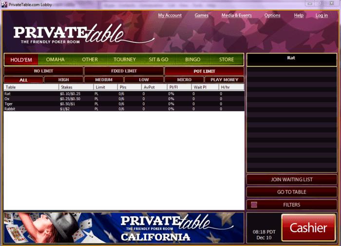 PrivateTable.com going live