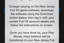 Full Tilt Errant Message Appears to Announce Legal Online Play in New Jersey