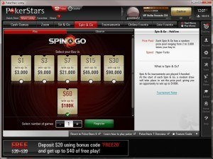 Spin & Go prop bet