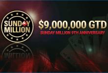 Sunday Million 9th Anniversary Tops $10 Million