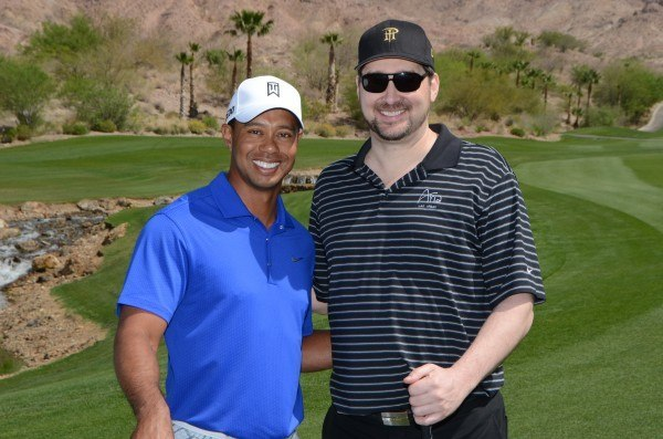 Tiger Woods Charity Poker Phil Hellmuth