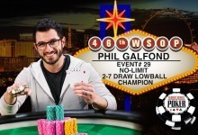 Phil Galfond Wins Second WSOP Bracelet