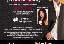 Chad Brown Memorial Poker Tournament Hosted by Maria Ho Slated for July 2