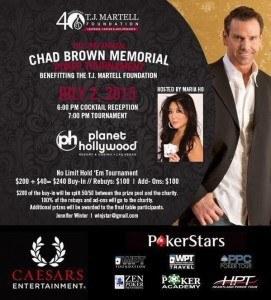 Chad Brown memorial poker tournament Maria Ho cancer AIDS