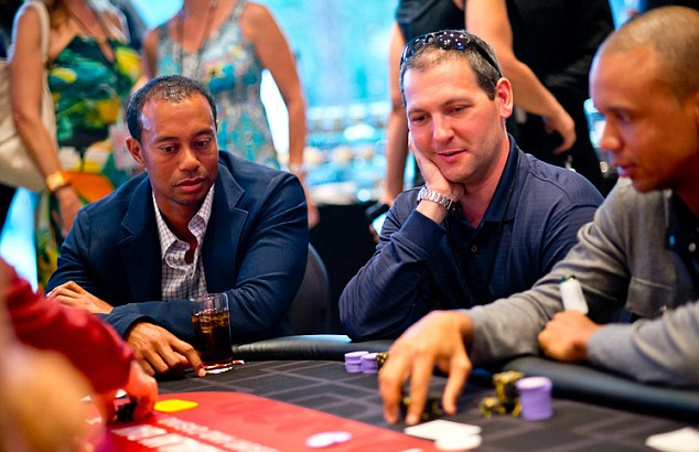 Tiger Woods poker charity Phil Hellmuth