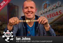 2016 World Series of Poker Daily Recap:Ian Johns Gives Jason Mercier a Run for His Money and POY Spot