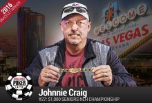 2016 World Series of Poker Daily Update:  Johnnie Craig Wins Seniors Event, Glantz Fights for Bracelet