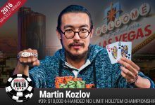 2016 World Series of Poker: Koslov Scoops $10K Six-Handed, Vitch Conquers Triple Draw