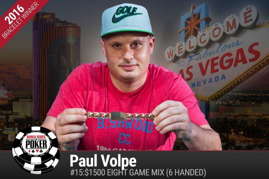 Paul Volpe Event #15 winner WSOP 2016