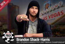 2016 World Series of Poker Daily Update: Brandon Shack-Harris Does It Again, $50K PPC Has Seiver Out Front