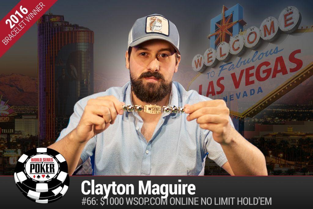 Clayton Maguire WSOP online winner 2016