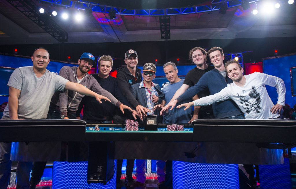 WSOP 2016 Main Event final table