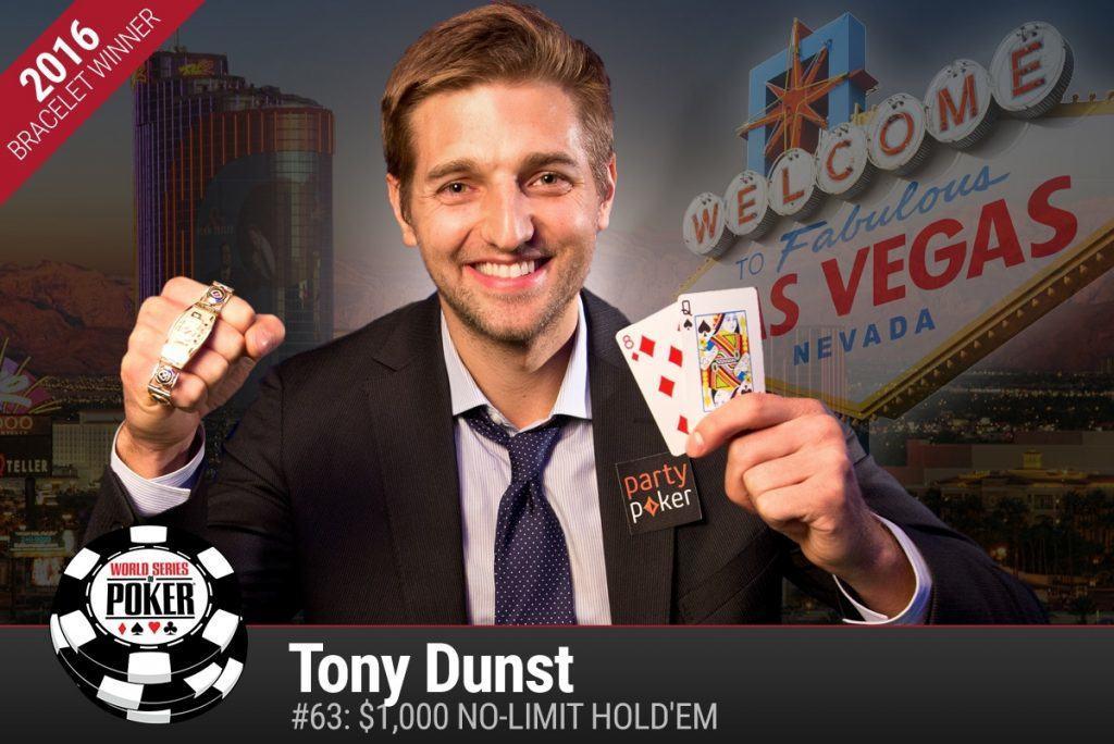 Tony Dunst WSOP 2016