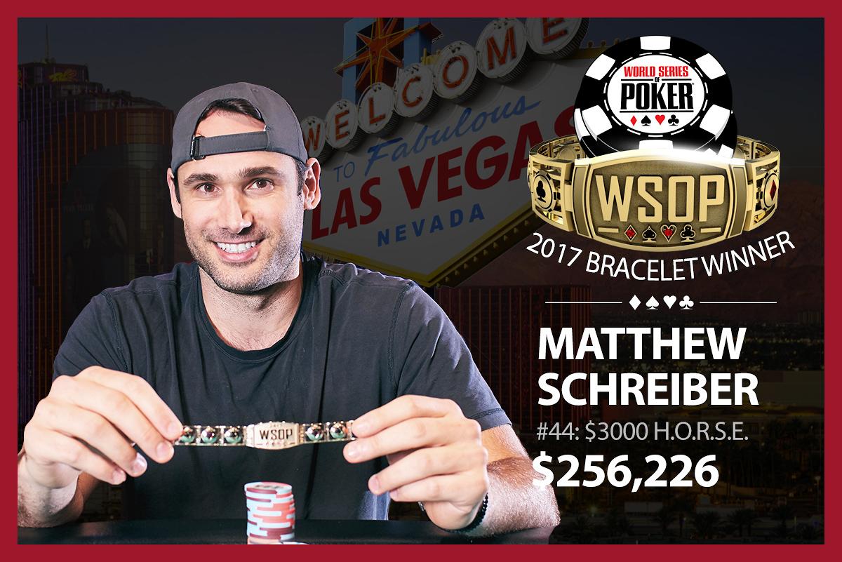 Matthew Schreiber $3,000 H.O.R.S.E. winner.