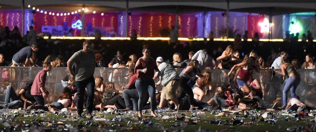 Las Vegas shooting scene