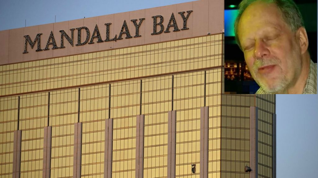 Las Vegas shooter next to Mandalay Bay with windows smashed out