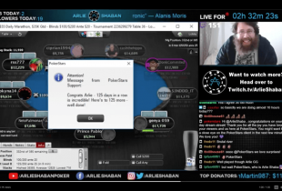 'Big Brother Canada' Contestant Arlie Shaban Livestreams Online Poker Games for 125 Consecutive Days, 1k Total Hours