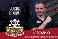 Sick Heater Continues as Justin Bonomo Bags WSOP Bracelet