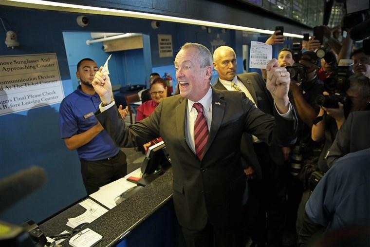 Phil Murphy first New Jersey sports bet