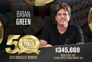 2019 WSOP Crowns Its First Winner as Brian Green Gets Gold