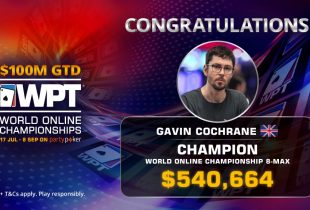 WPT and WSOP Online Updates: Gavin Cochrane Comes Out On Top