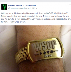 Chad Brown, death, WSOP bracelet, World Series of Poker 2014