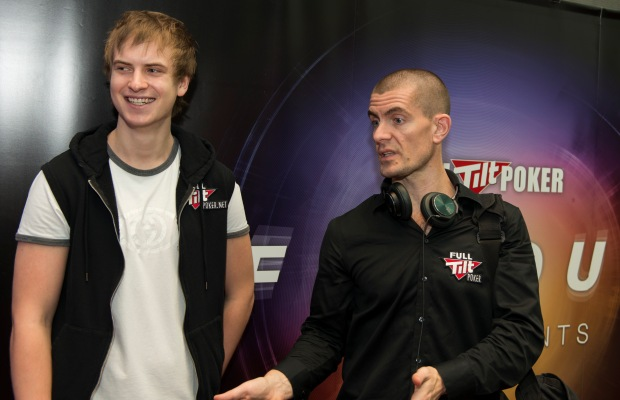 Viktor Blom and Gus Hansen