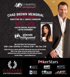 Chad Brown memorial poker tournament Maria Ho cancer AIDS