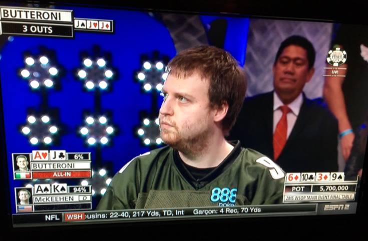 Joe McKeehen November Nine ESPN WSOP 2015 Day One