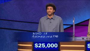Alex Jacob on Jeopardy.