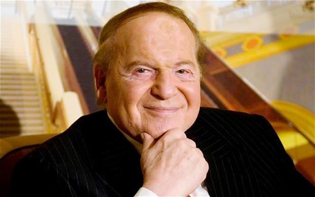 Sheldon Adelson supports Donald Trump.