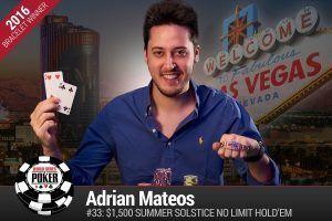 Adrian Mateos Summer Solstice WSOP 2016