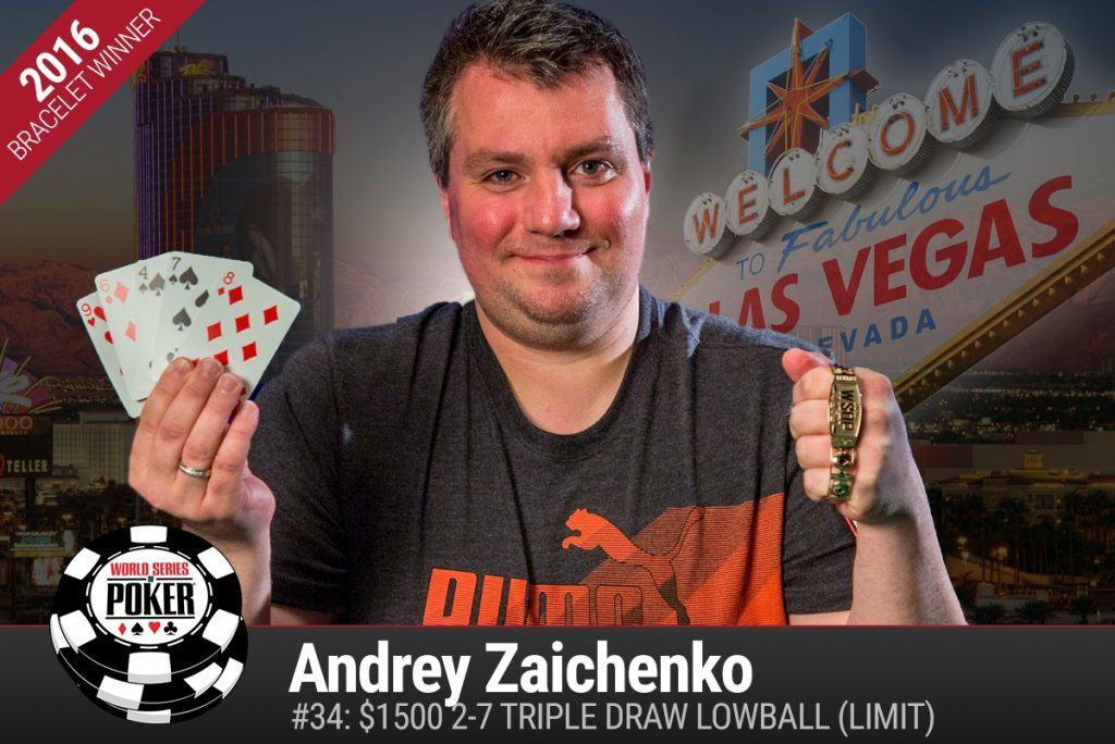 Andrey Zaichenko WSOP 2016