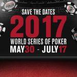 WSOP 2017 schedule.